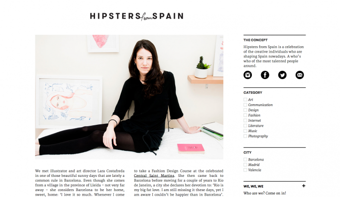 hipsters from spain lara costafreda